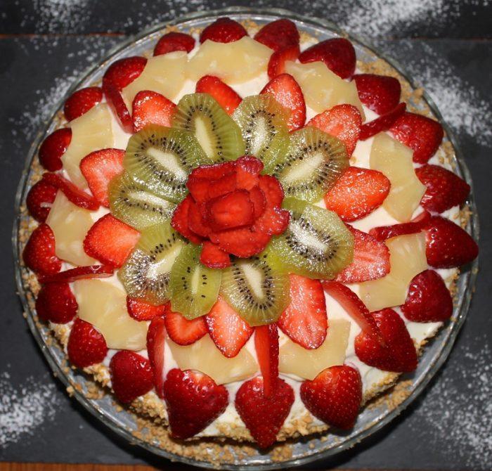 Torta alla frutta con crema chantilly - Ricette Passo Passo con foto