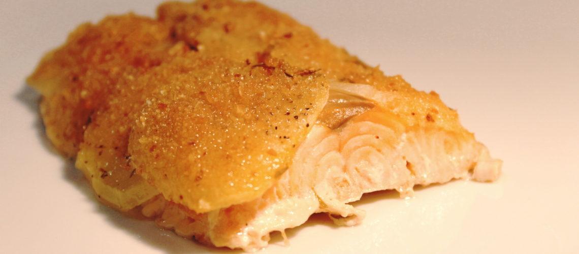 Ricetta Salmone Con Patate Al Forno.Salmone In Crosta Di Patate Ricette Passo Passo Con Foto