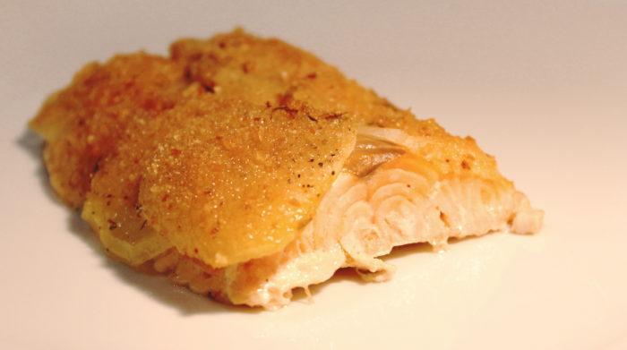 Salmone in crosta di patate - Ricette Passo Passo con foto