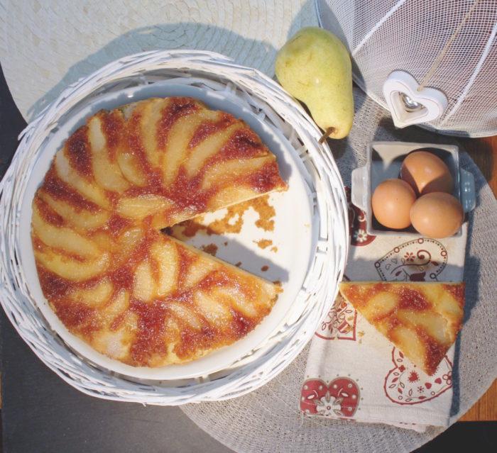 Torta rovesciata pere e cannella - Ricette Passo Passo con foto