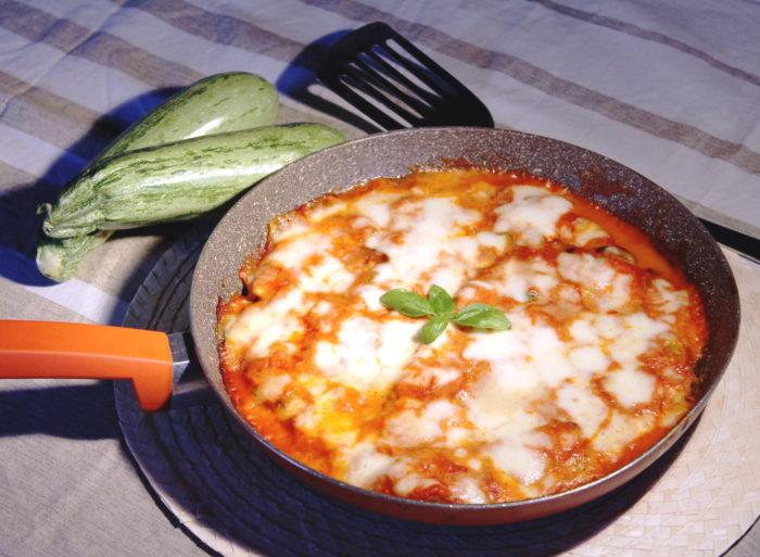 Parmigiana di zucchine in padella - Ricette Passo Passo con foto