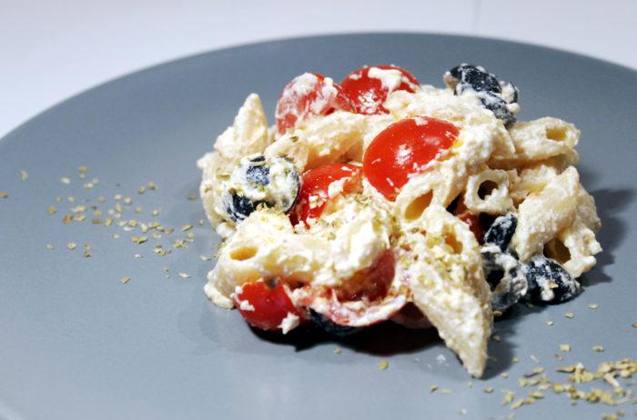 Pasta pachino, olive e ricotta - Ricette Passo Passo con foto