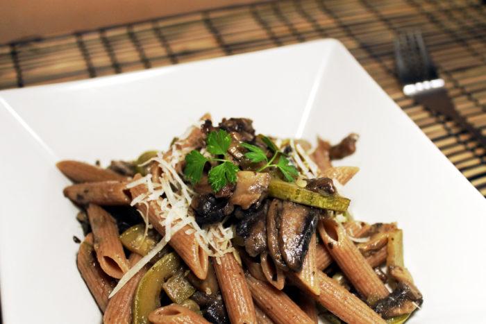 Pasta funghi e zucchine - Ricette Passo Passo con foto