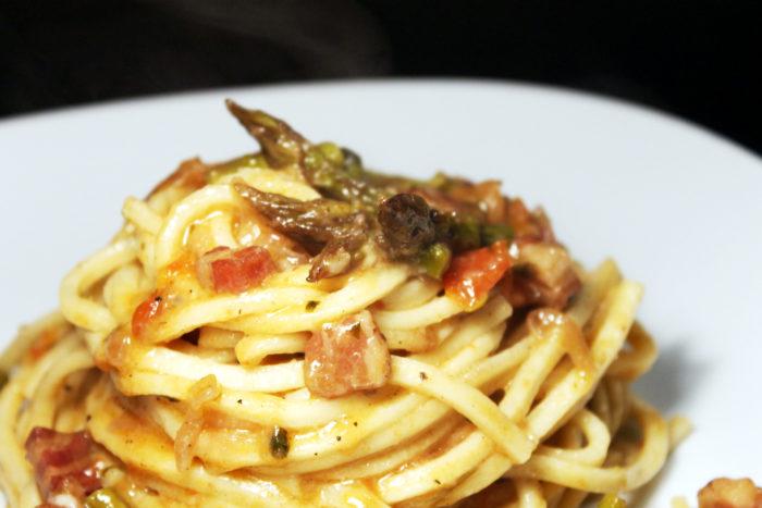 Pasta con pancetta e asparagi - Ricette Passo Passo con foto