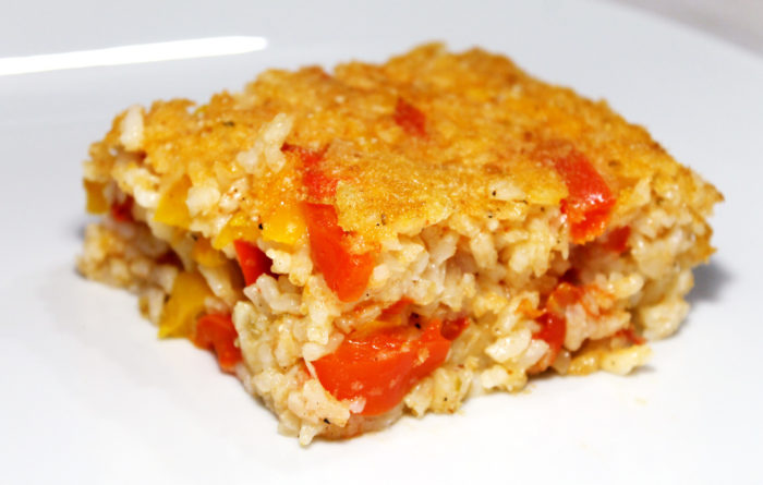 Riso con peperoni gratinato - Ricette Passo Passo con foto