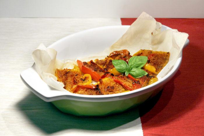 Peperoni gratinati - Ricette Passo Passo con foto
