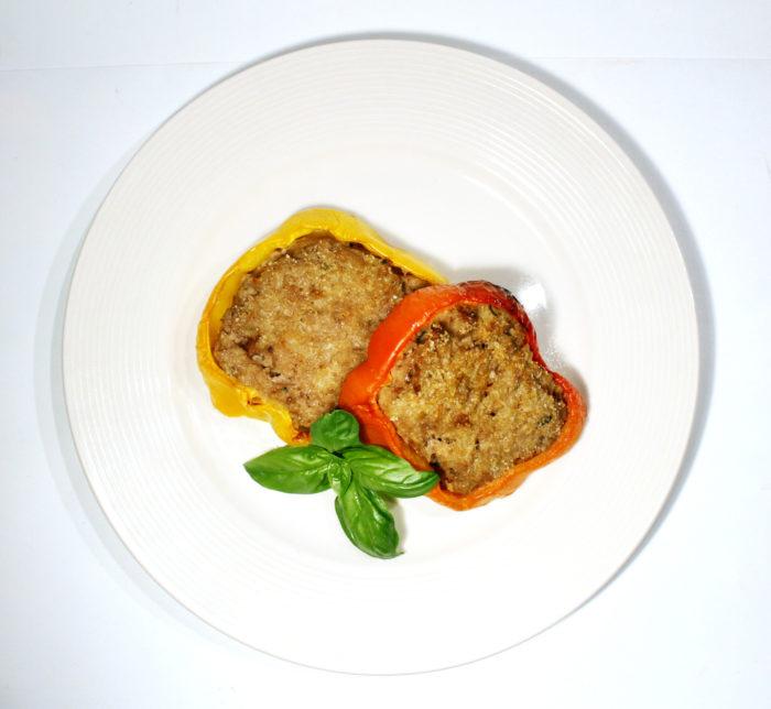 Polpettone in cornice di peperoni - Ricette Passo Passo con foto