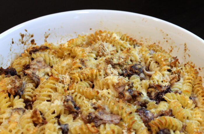 Pasta al forno radicchio e gorgonzola - Ricette Passo Passo con foto