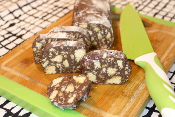 Salame al cioccolato - Ricette Passo Passo con foto